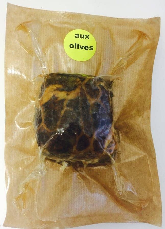 Caillette aux olives