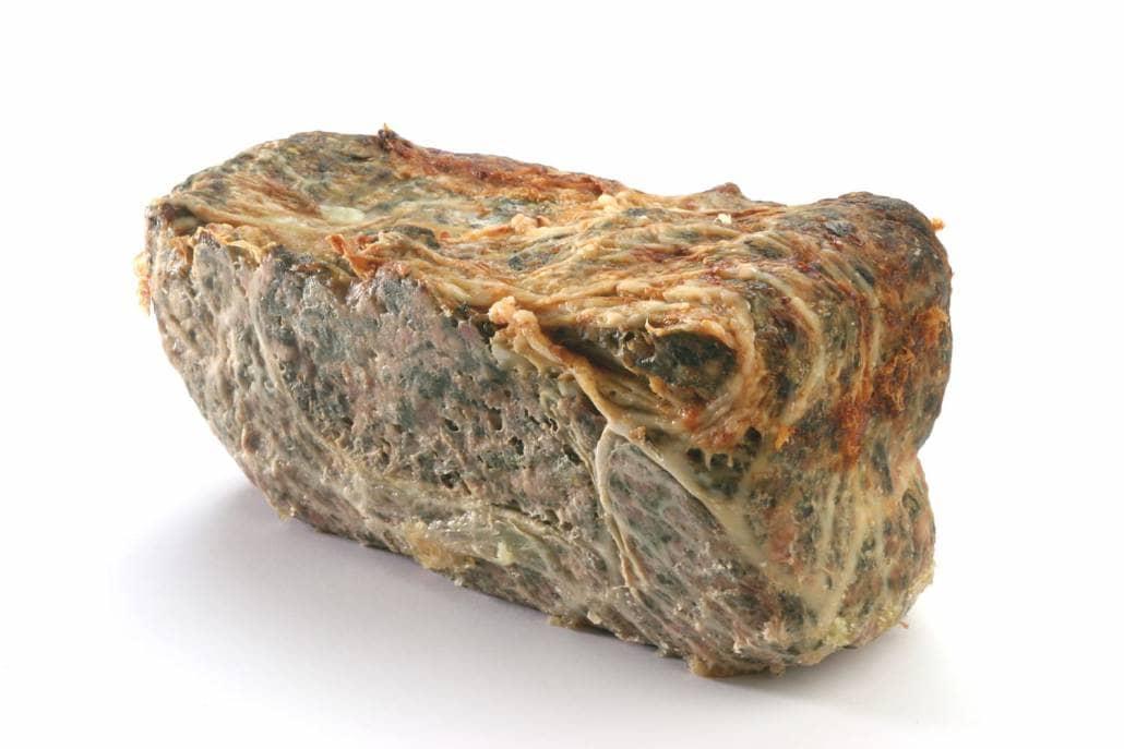 Caillette aux épinards en pain