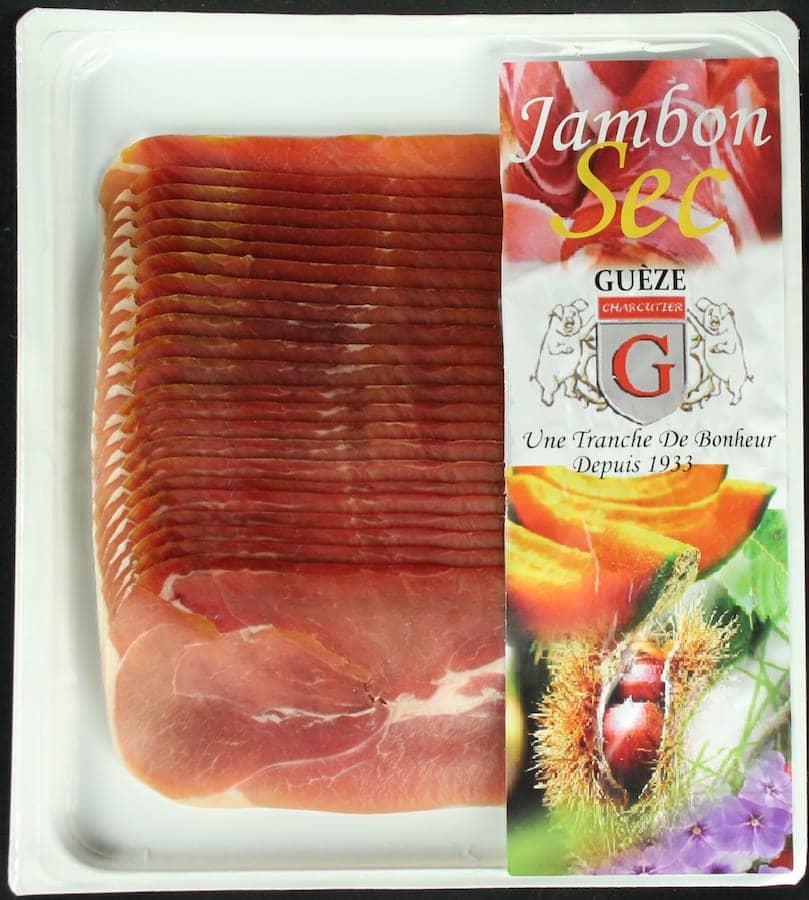 Jambon sec 20 tranches