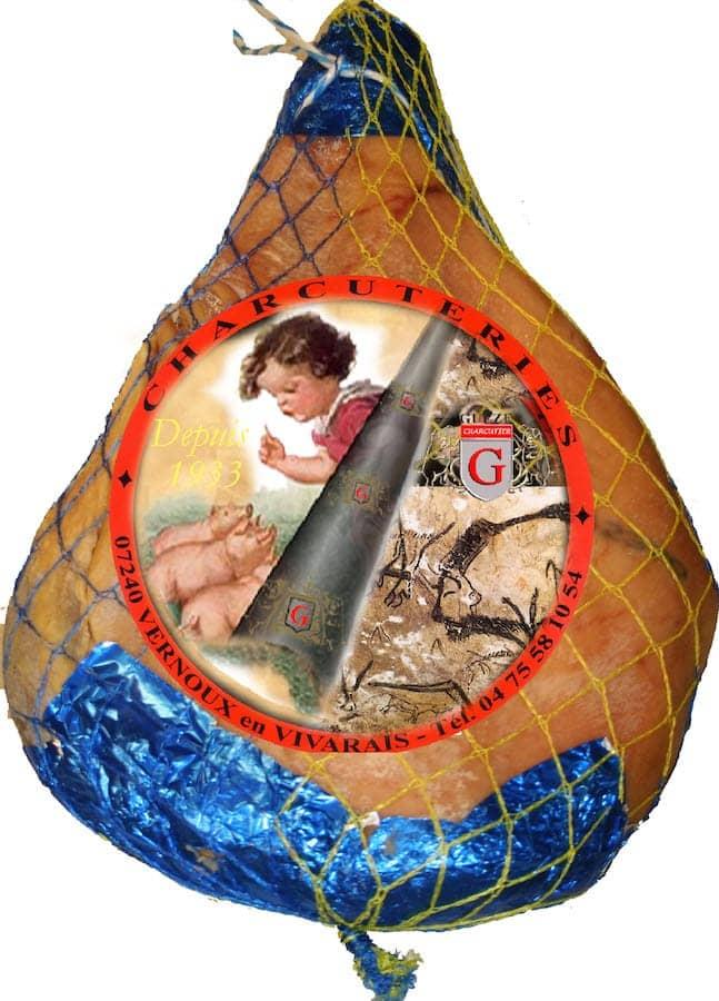 Jambon sec supérieur avec os 9 mois