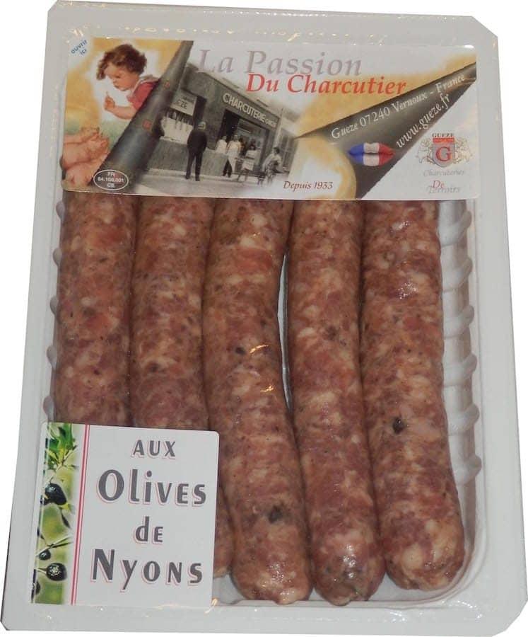Chipolatas aux olives de nyons
