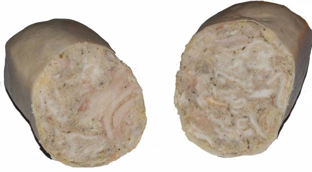 Vue intérieure d'une andouillette provencale